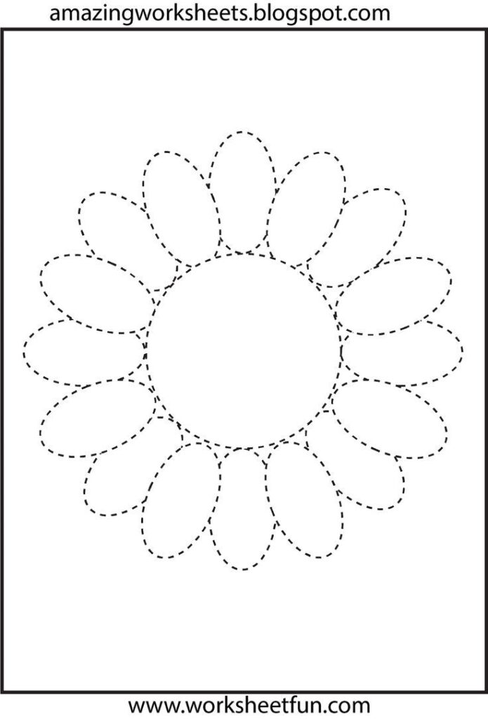 Flower Trace | Crafts And Worksheets For Preschool,toddler