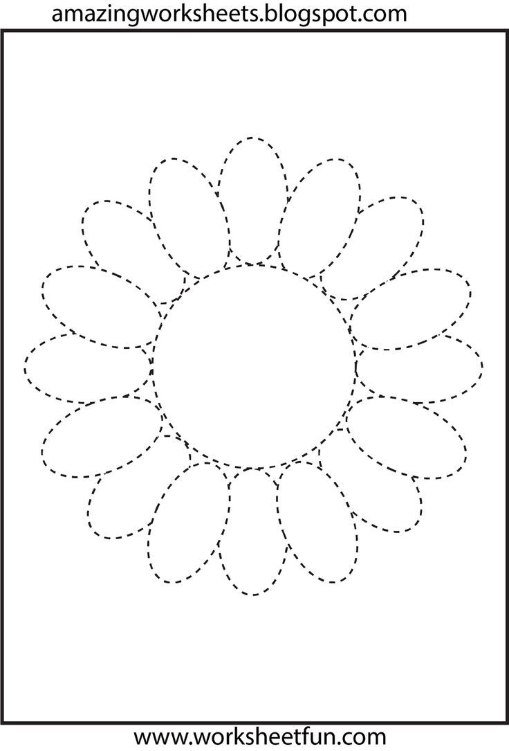Flower-Trace | Crafts And Worksheets For Preschool,toddler