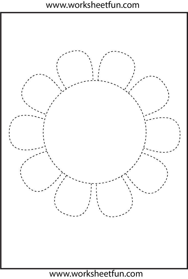 Flower Trace Worksheet | Actividades De Aprendizaje Del Niño