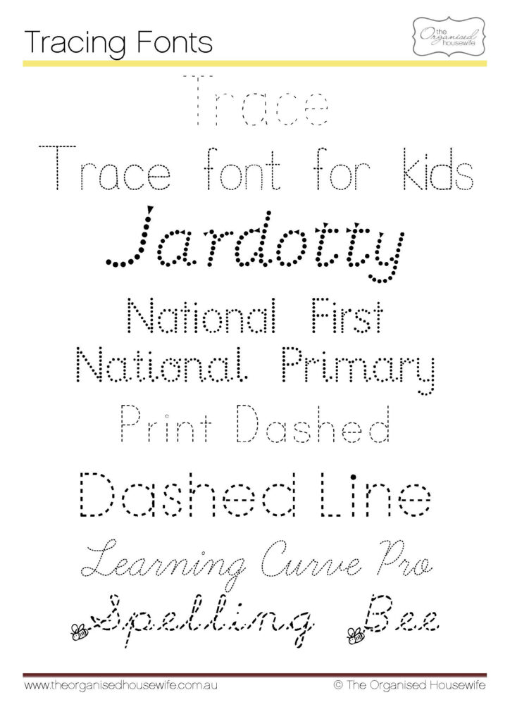Fonts To Help Kids To Write + Qld Cursive | School Fonts Intended For Name Tracing Qld Font