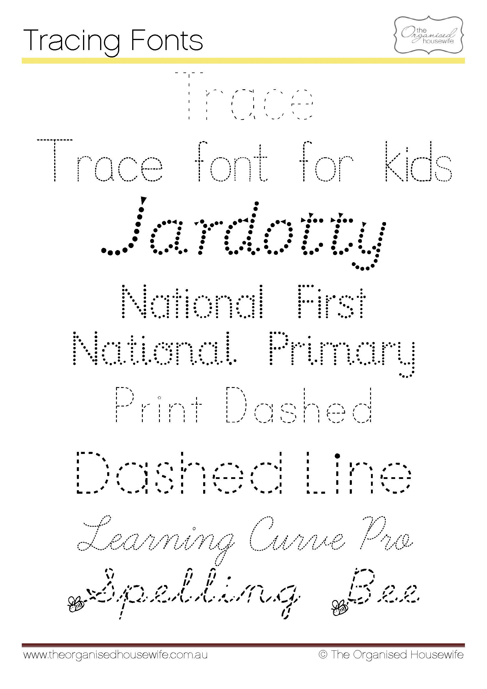 Fonts To Help Kids To Write + Qld Cursive | School Fonts within Name Of Tracing Font