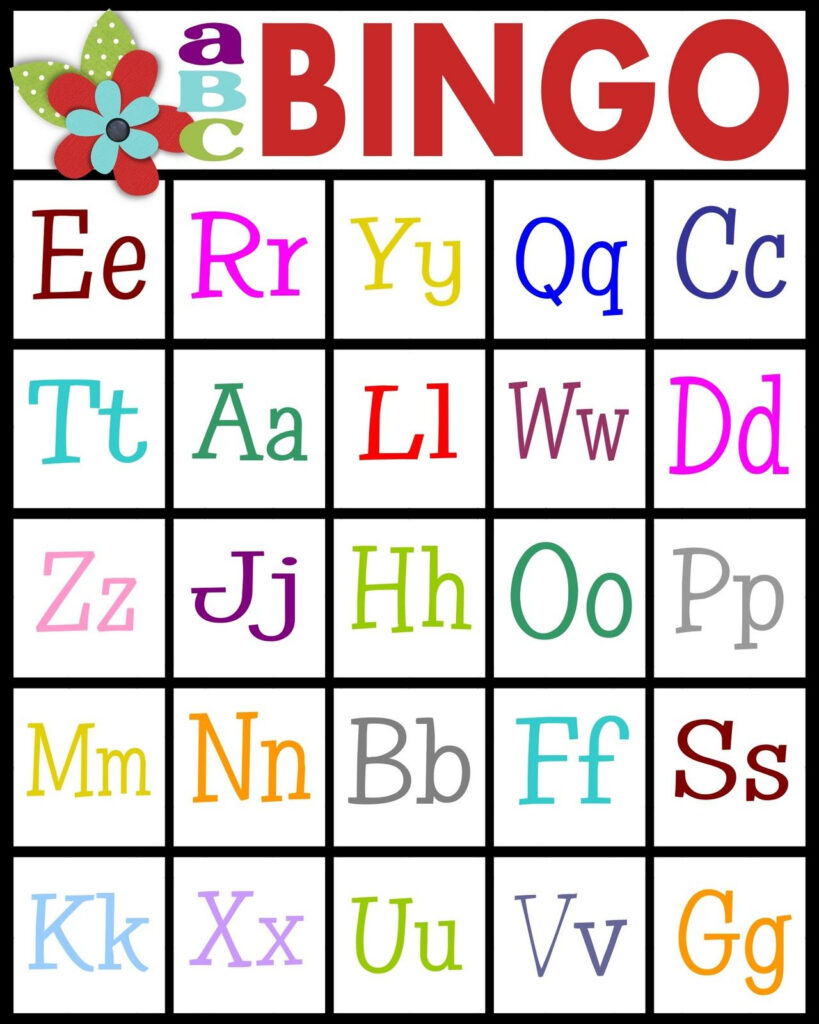 For Teaching Letter Recognition Or Letter Sounds | Teaching Regarding Alphabet Bingo Worksheets