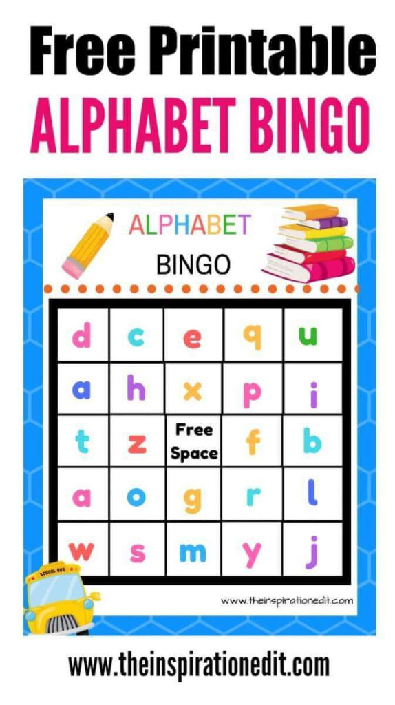 Free Alphabet Bingo Printable For Kids · The Inspiration Pertaining To Alphabet Bingo Worksheets