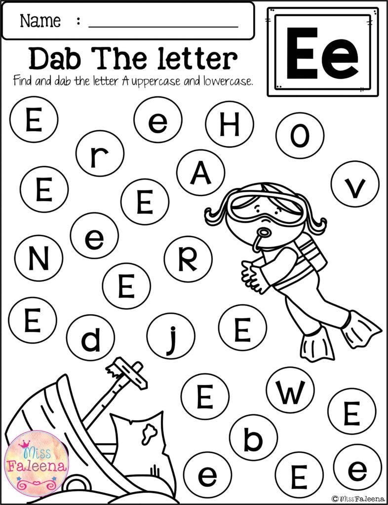 Free Alphabet Dab   Free Kindergarten Worksheets, Alphabet For Alphabet Dab Worksheets