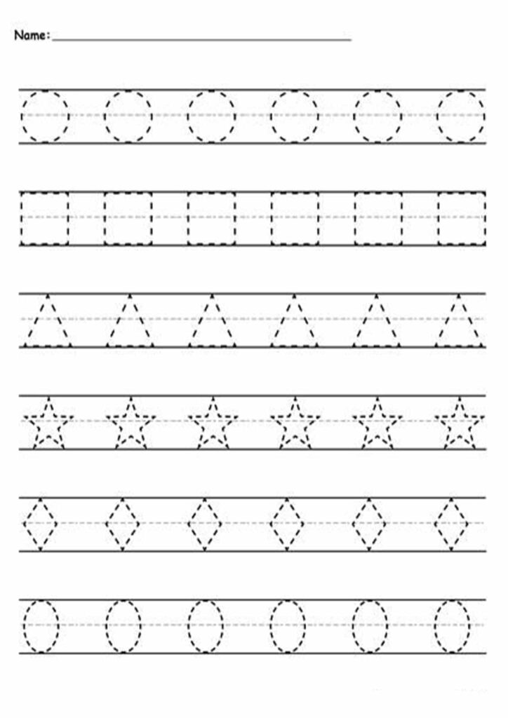 Free And Easy To Print Tracing Lines Worksheets   Tulamama