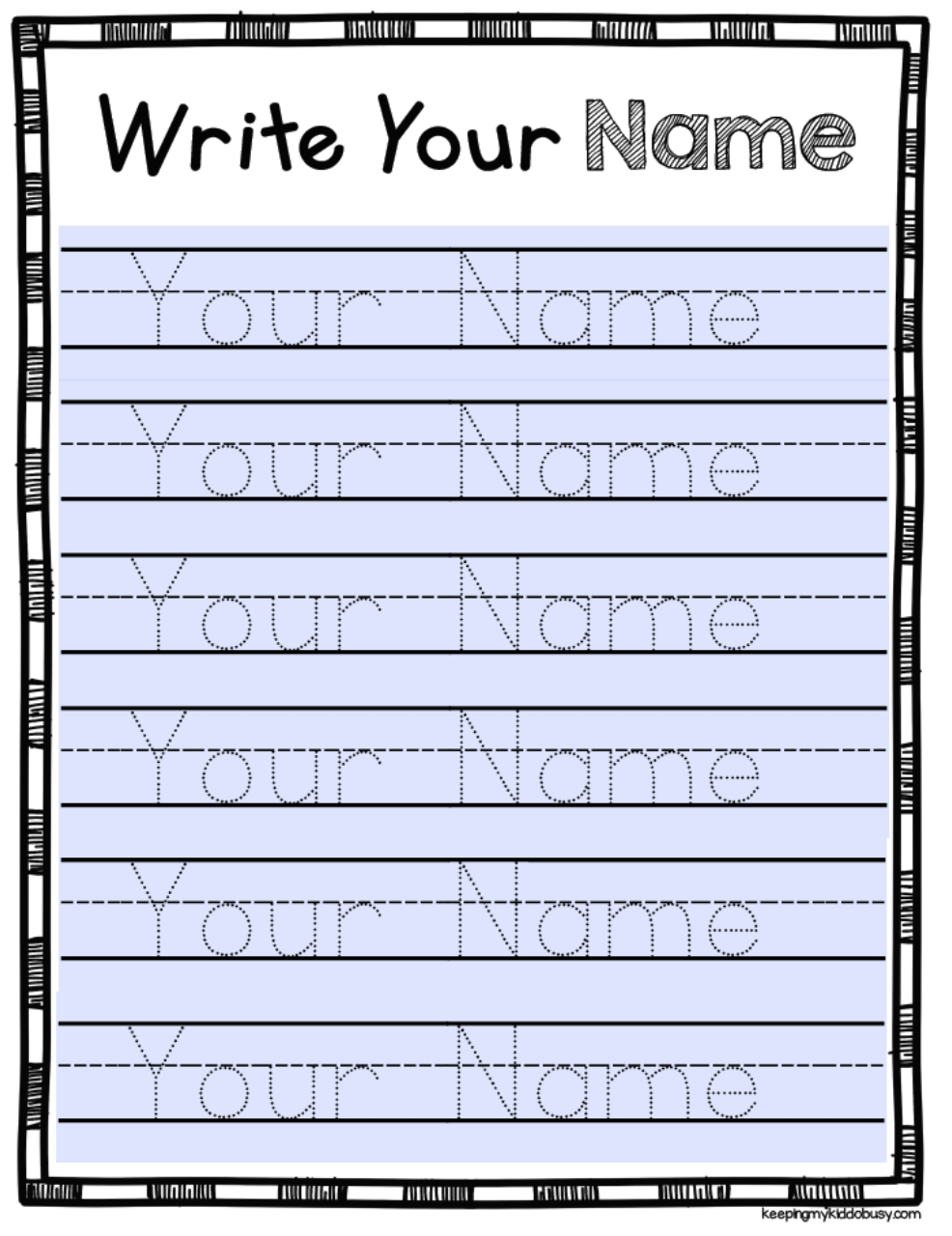 Free Editable Name Tracing Activity - Type Student Names And in Name Tracing Personalized