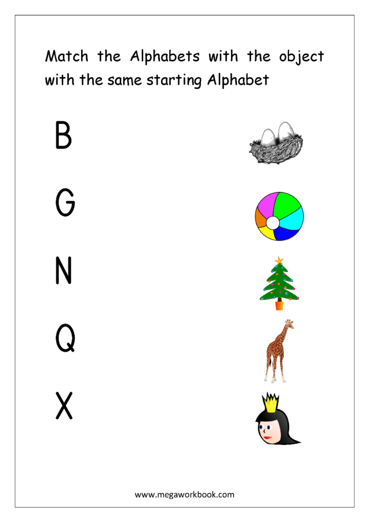 Free English Worksheets   Alphabet Matching   Megaworkbook Inside Alphabet Matching Worksheets Pdf