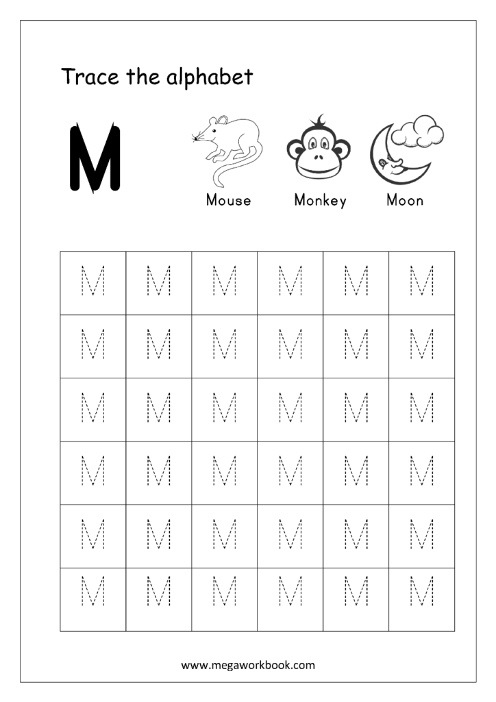 Free English Worksheets   Alphabet Tracing (Capital Letters
