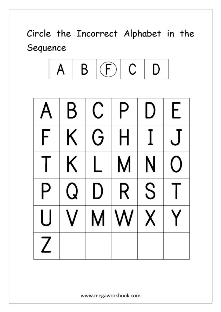 Free English Worksheets   Alphabetical Sequence Throughout Alphabet Sequencing Worksheets