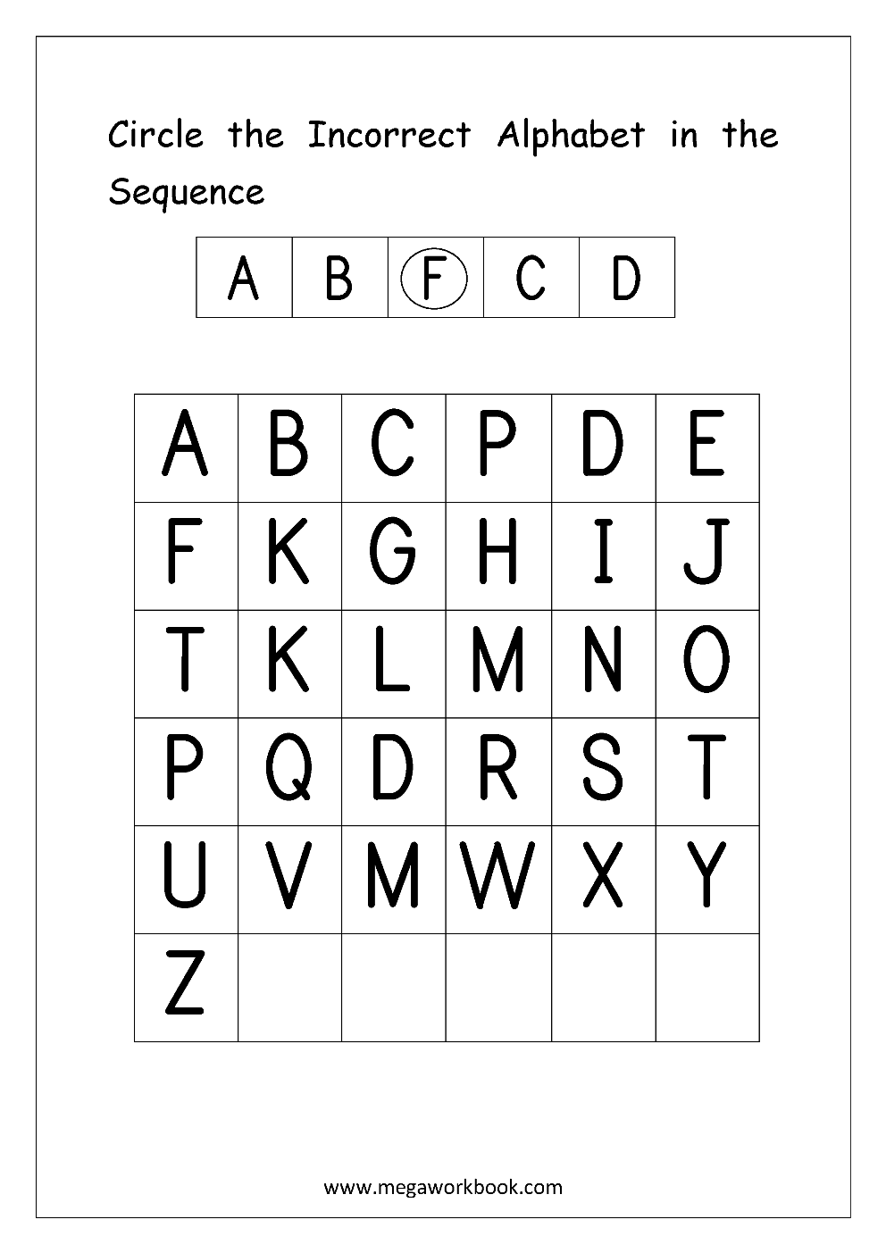 Free English Worksheets - Alphabetical Sequence throughout Alphabet Sequencing Worksheets