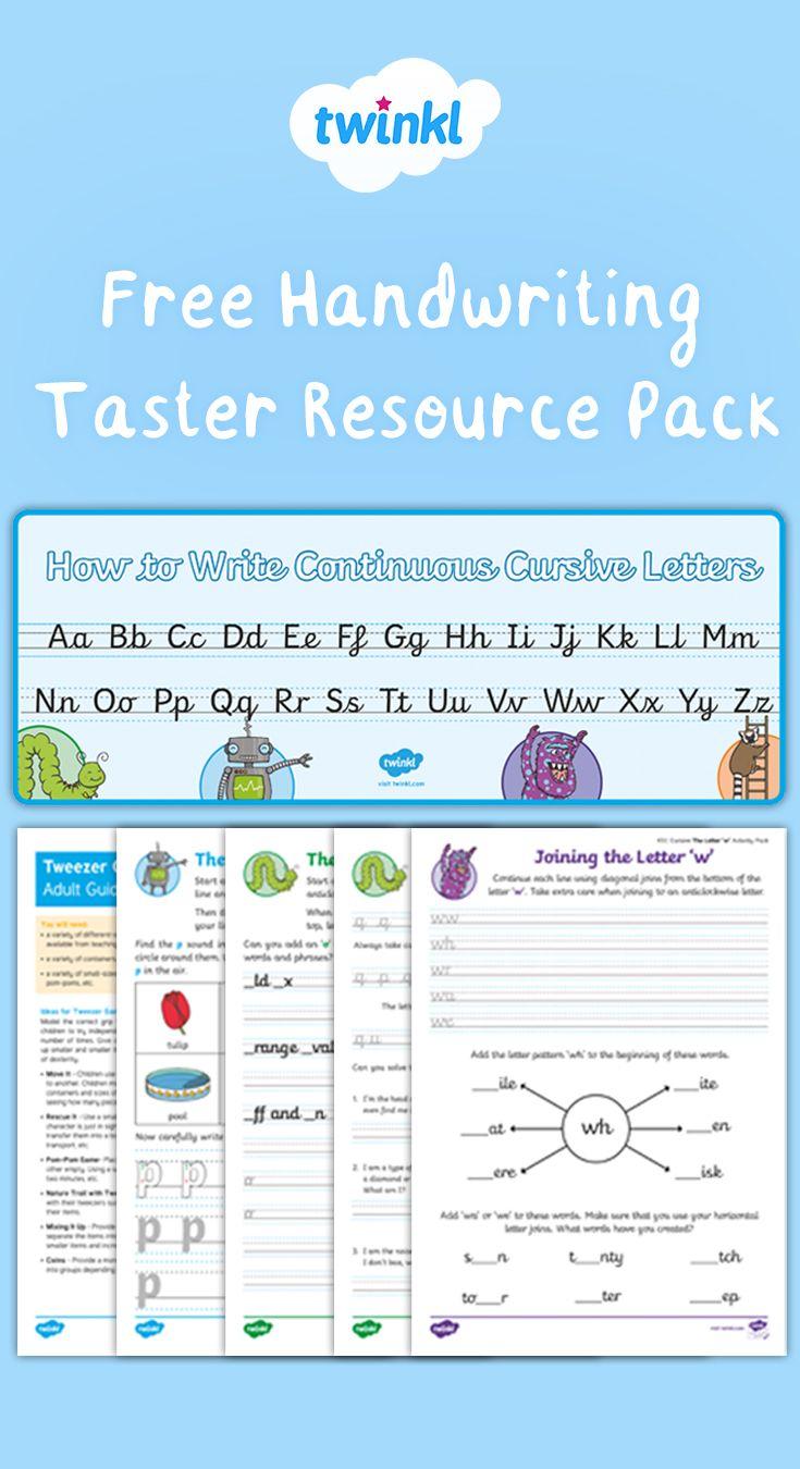 Free Eyfs / Ks1 Handwriting Taster Resource Pack. | Free regarding Alphabet Handwriting Worksheets Twinkl