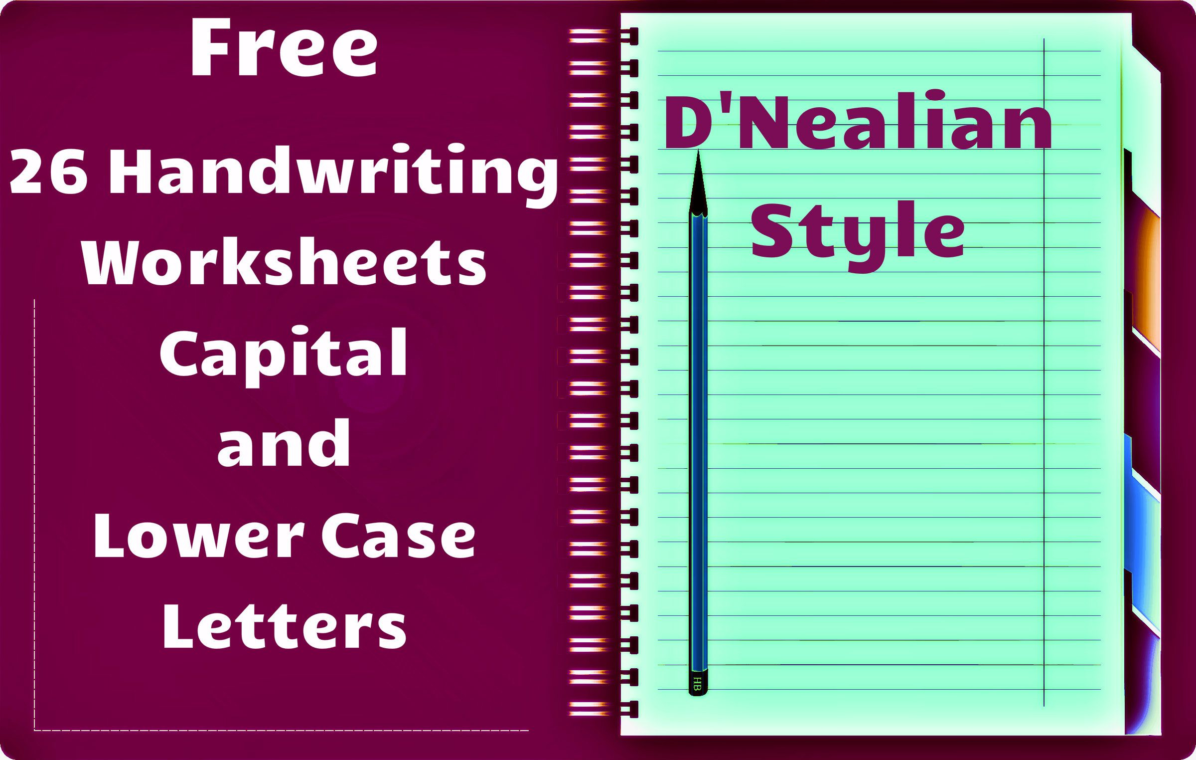 Free Handwriting Worksheets! Includes Worksheets For All for D'nealian Alphabet Worksheets
