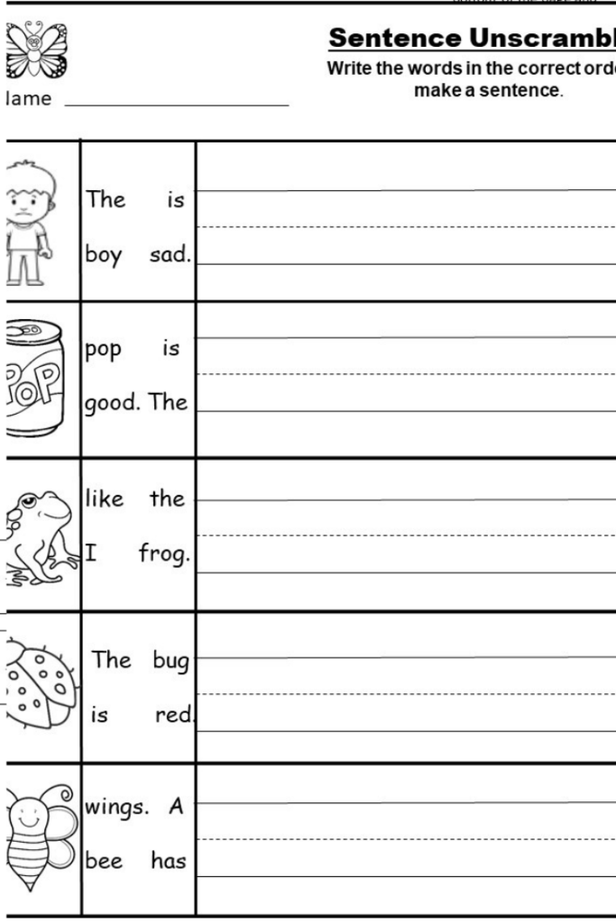 Free Kindergarten Writing Printable   Kindermomma