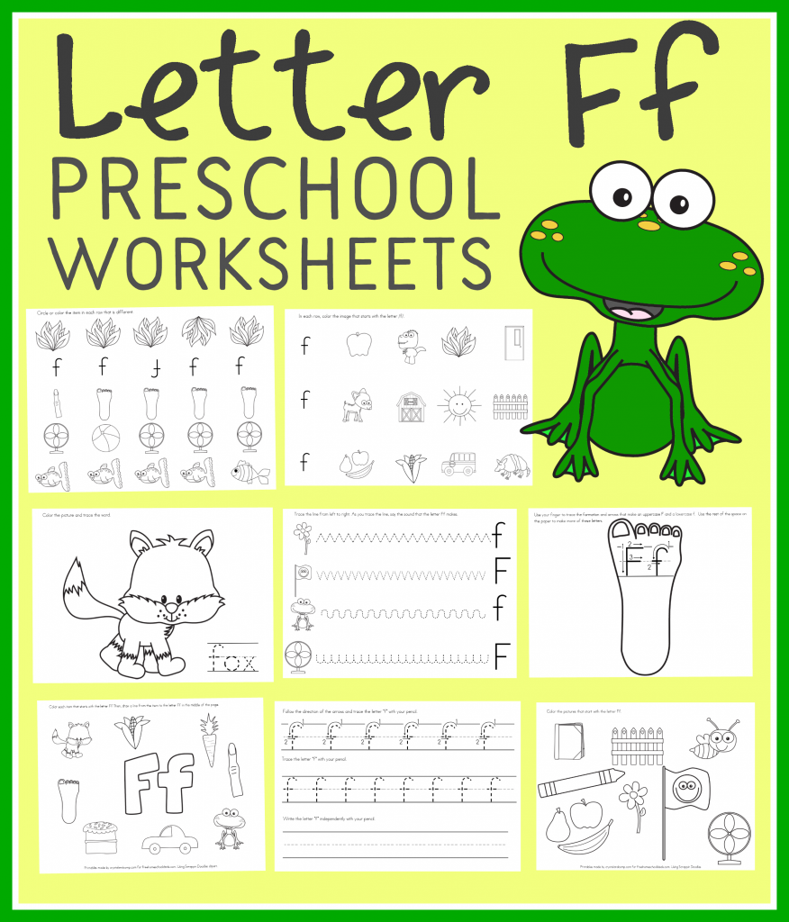 Free Letter F Preschool Worksheets (Instant Download) Inside Letter F Worksheets For Kindergarten Pdf