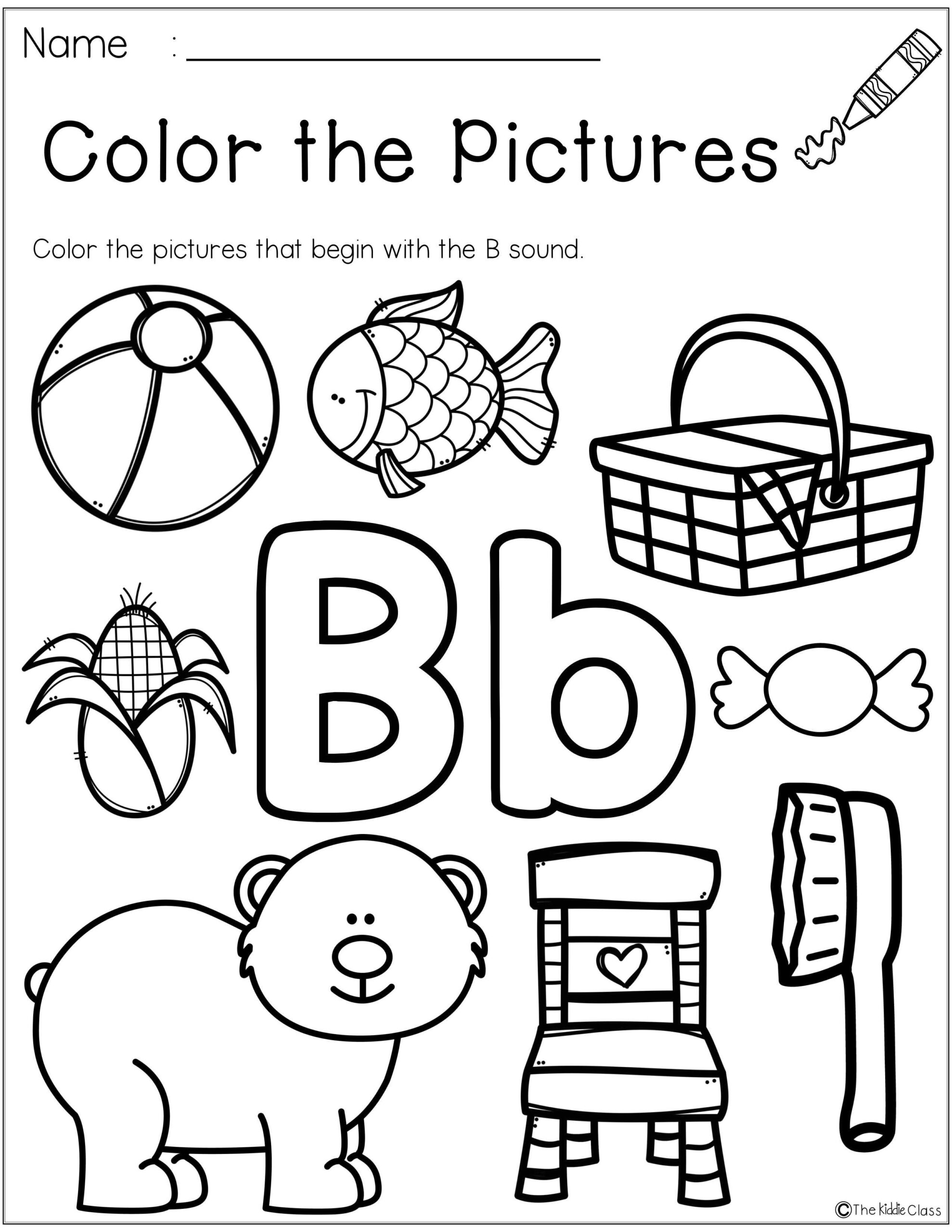 Free Letter Of The Week B Is Perfect For Beginning Of The for Letter B Worksheets For 1St Grade