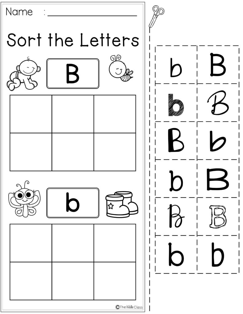 Free Letter Of The Week B Is Perfect For Beginning Of The Inside Letter B Worksheets Pre K