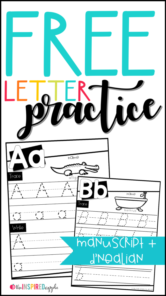 Free Letter Practice Worksheets   Babbling Abby