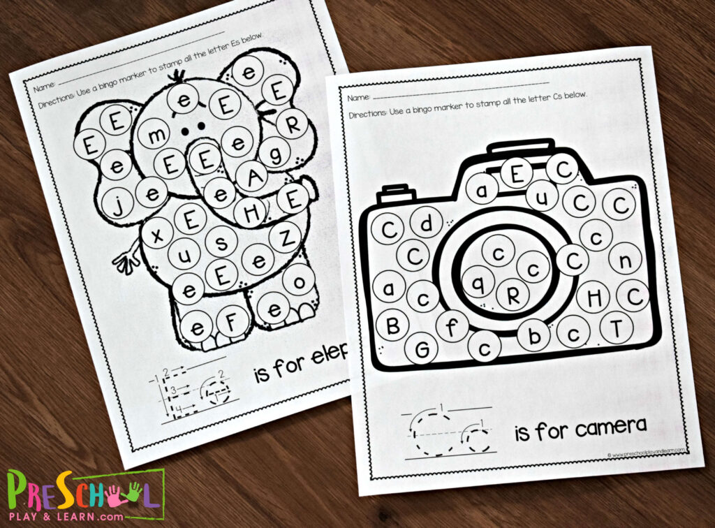 Free Letter Recognition Worksheets A To Z Inside Alphabet Recognition Worksheets Free