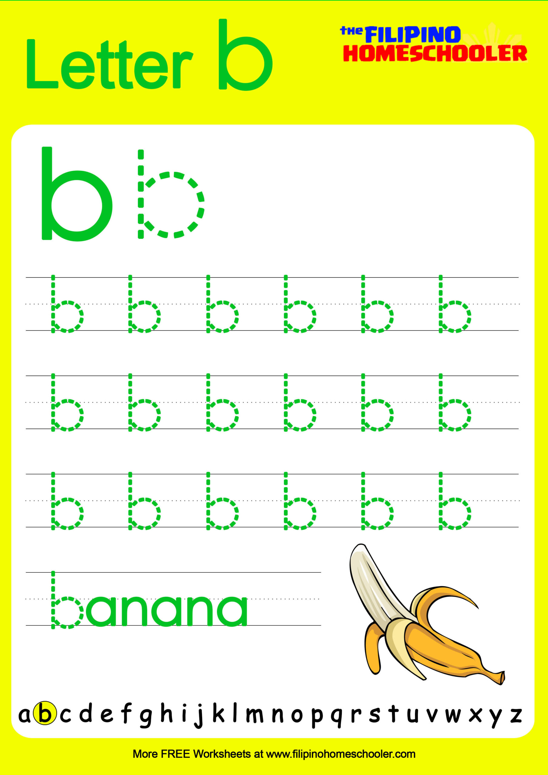 Free Lowercase Letter Tracing Worksheets — The Filipino