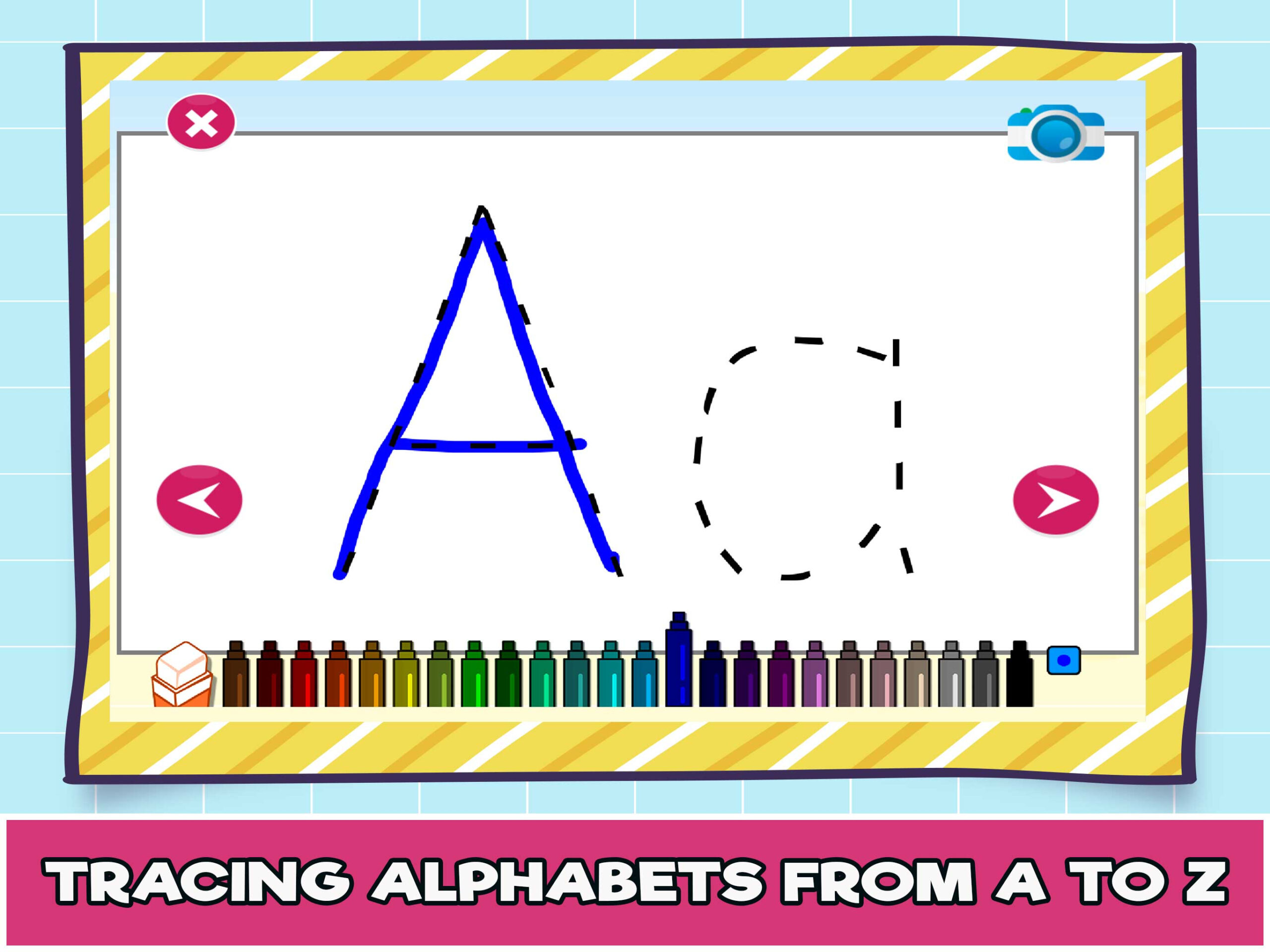 Free Online Alphabet Tracing Game For Kids - The Learning Apps regarding Letter Tracing Html5