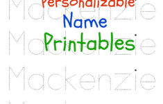 Free Kindergarten Name Tracing Worksheets