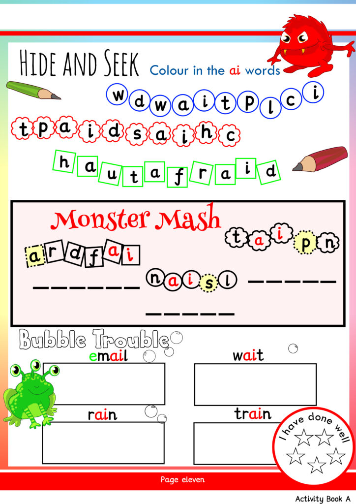 Free Phonics Worksheets & Activities | Monster Phonics Throughout Key Stage 1 Alphabet Worksheets