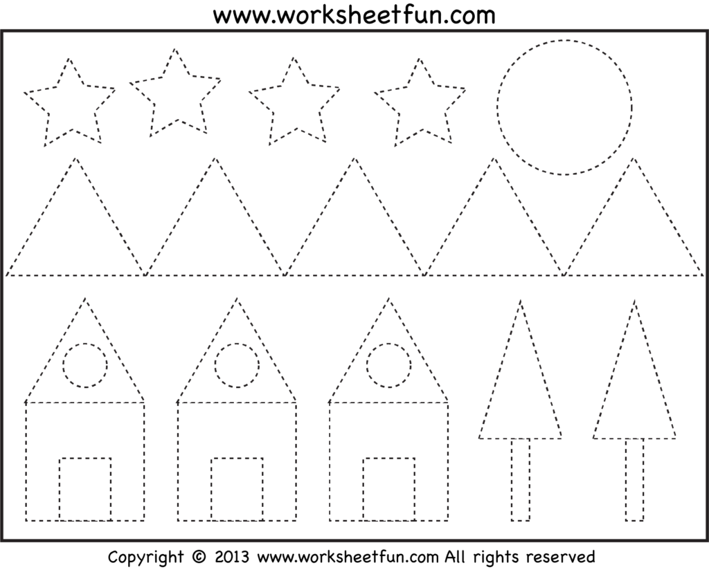 Free Picture Tracing – Shapes!   Pre K & Kindergarten. Not