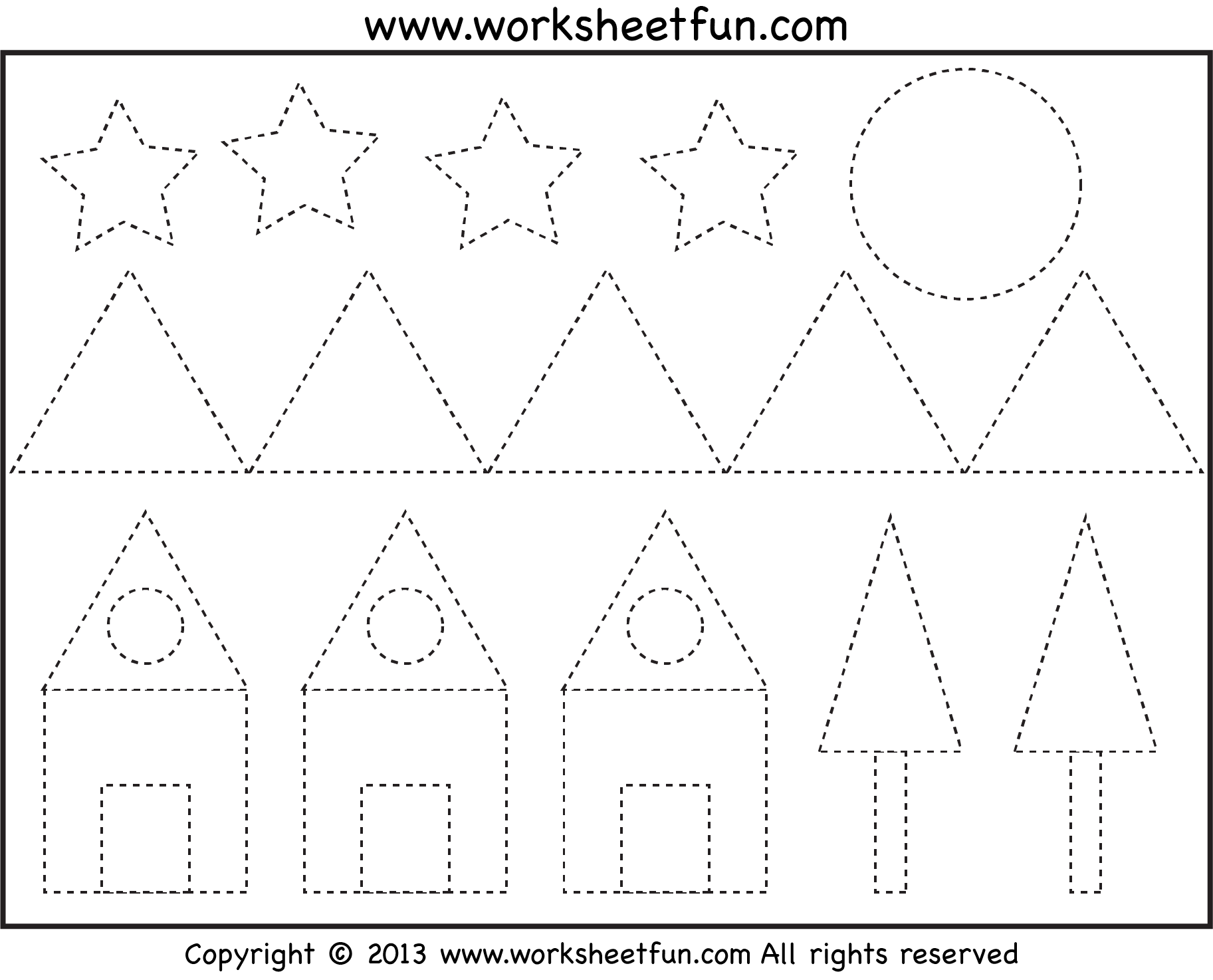 Free Picture Tracing – Shapes! - Pre-K & Kindergarten. Not