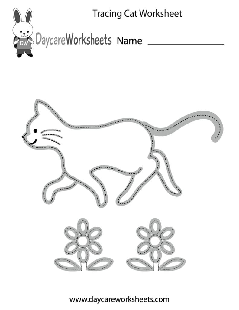 Free Preschool Tracing Cat Worksheet | Tracing Worksheets