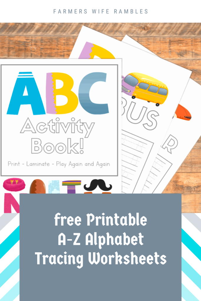 Free Printable A Z Alphabet Tracing Worksheets   Farmer's Throughout Alphabet Worksheets A Z Free