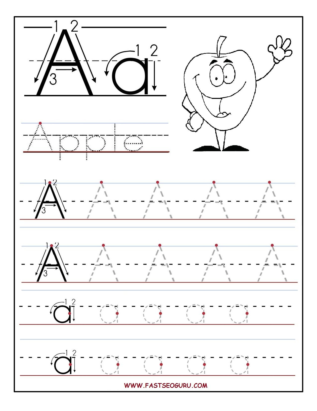 Free Printable Activities For Preschoolers | Alphabet