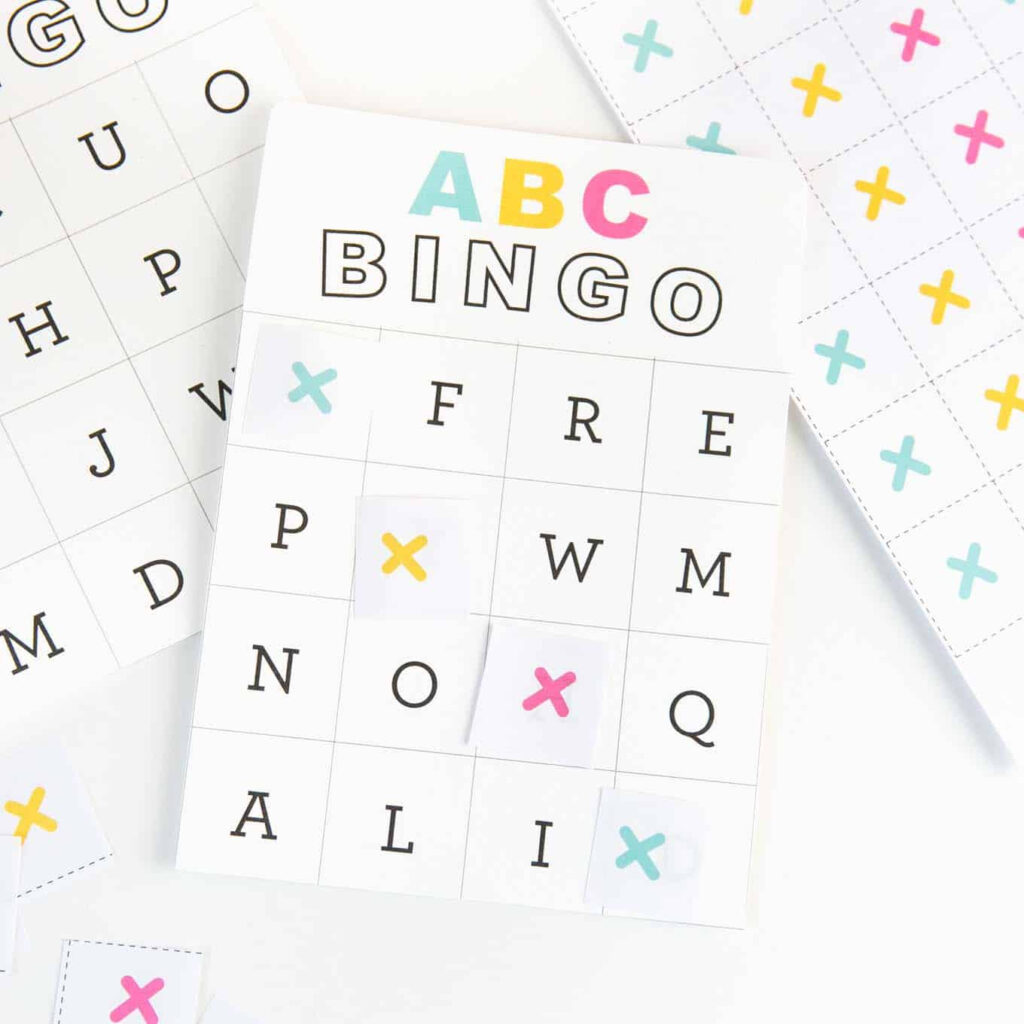 Free Printable Alphabet Bingo   Design Eat Repeat With Alphabet Bingo Worksheets