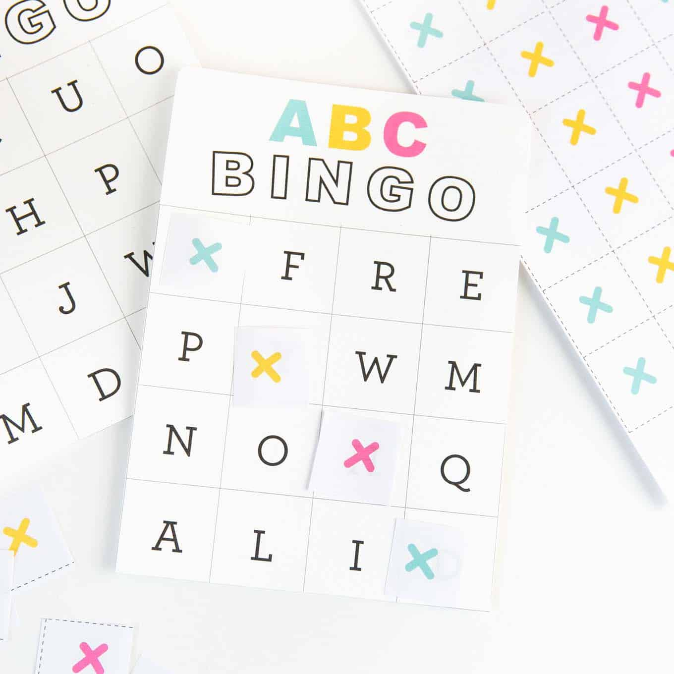 Free Printable Alphabet Bingo - Design Eat Repeat with Alphabet Bingo Worksheets