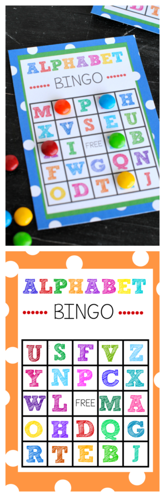 Free Printable Alphabet Bingo Game Inside Alphabet Bingo Worksheets