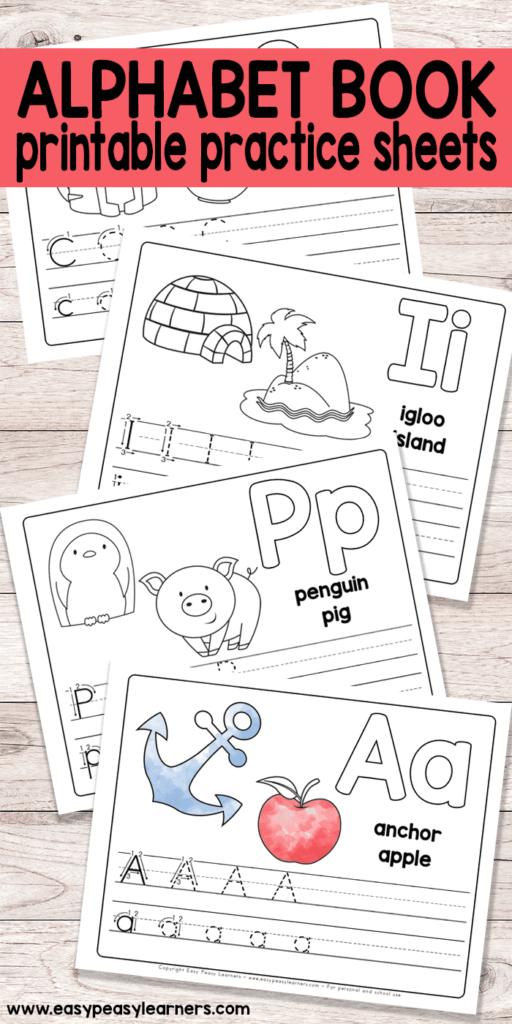 Free Printable Alphabet Book   Alphabet Worksheets For Pre K Intended For Letter S Worksheets Easy Peasy