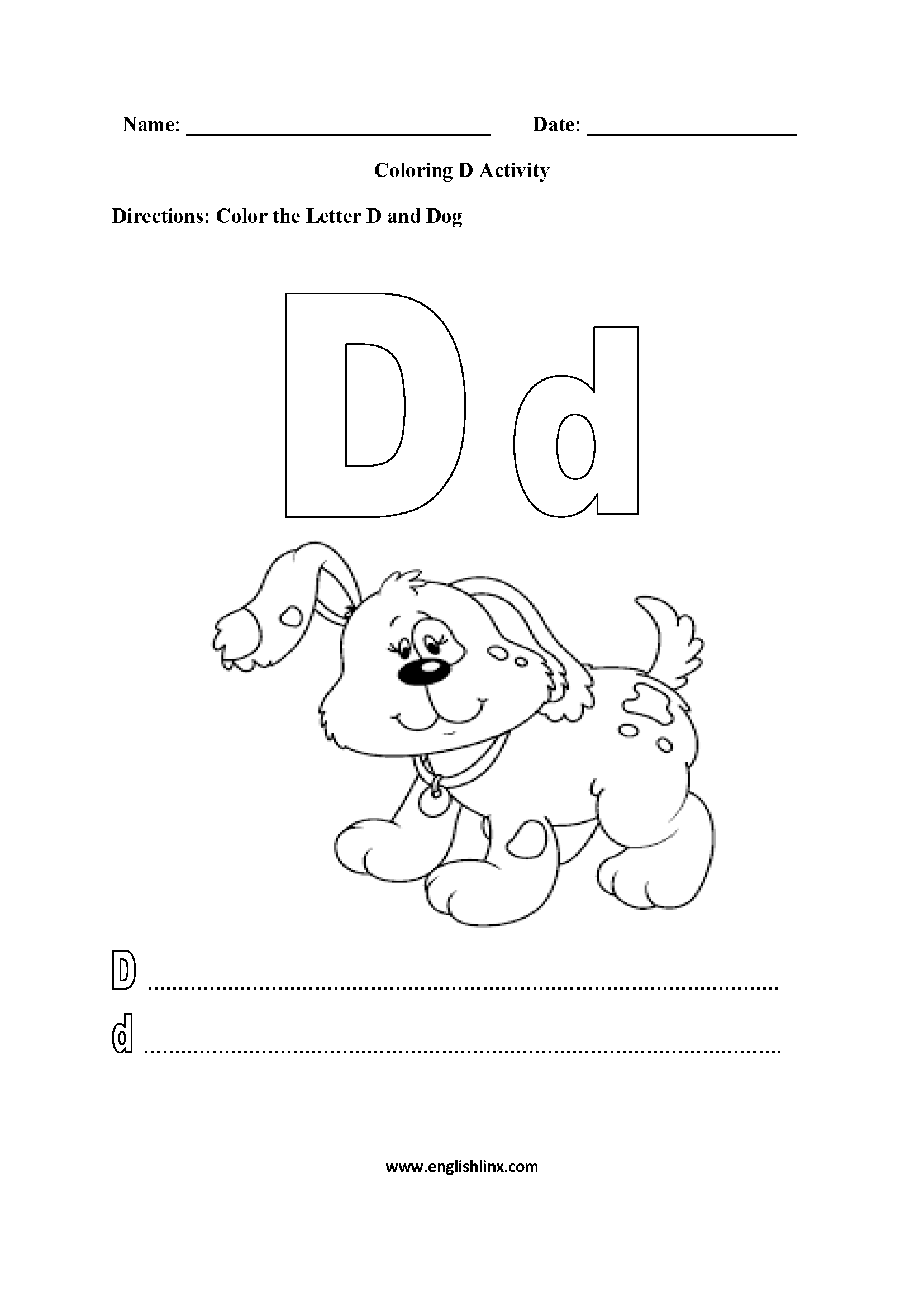 Free Printable Alphabet Coloring Worksheets Pages For inside Alphabet Worksheets To Color