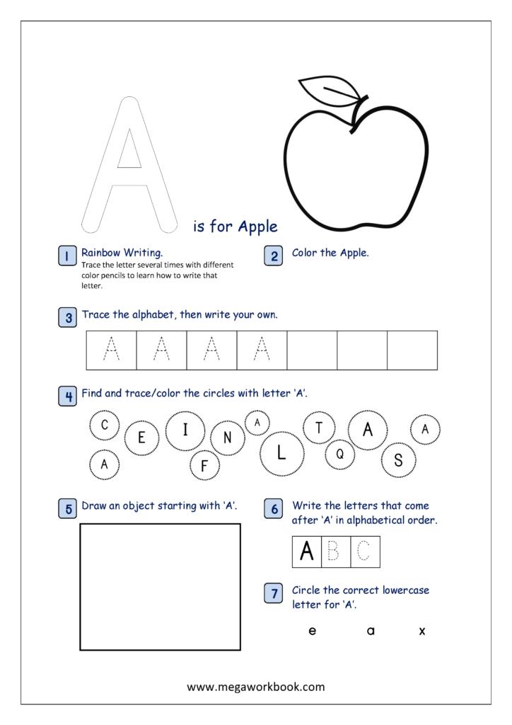 Free Printable Alphabet Recognition Worksheets For Capital In Alphabet Recognition Worksheets For Preschool