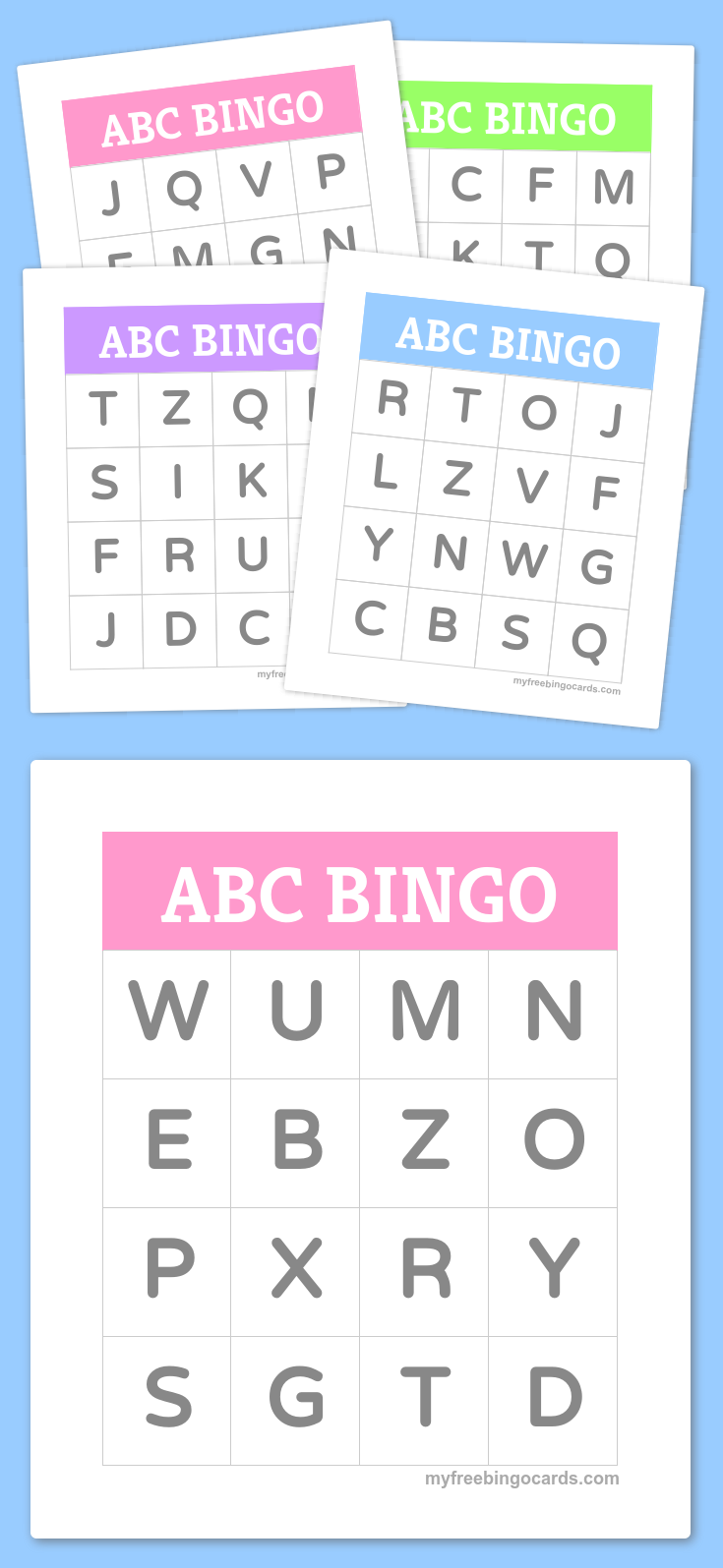 Free Printable And Virtual Bingo Cards | Abc For Kids within Alphabet Bingo Worksheets