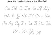 The Cursive Alphabet Printable