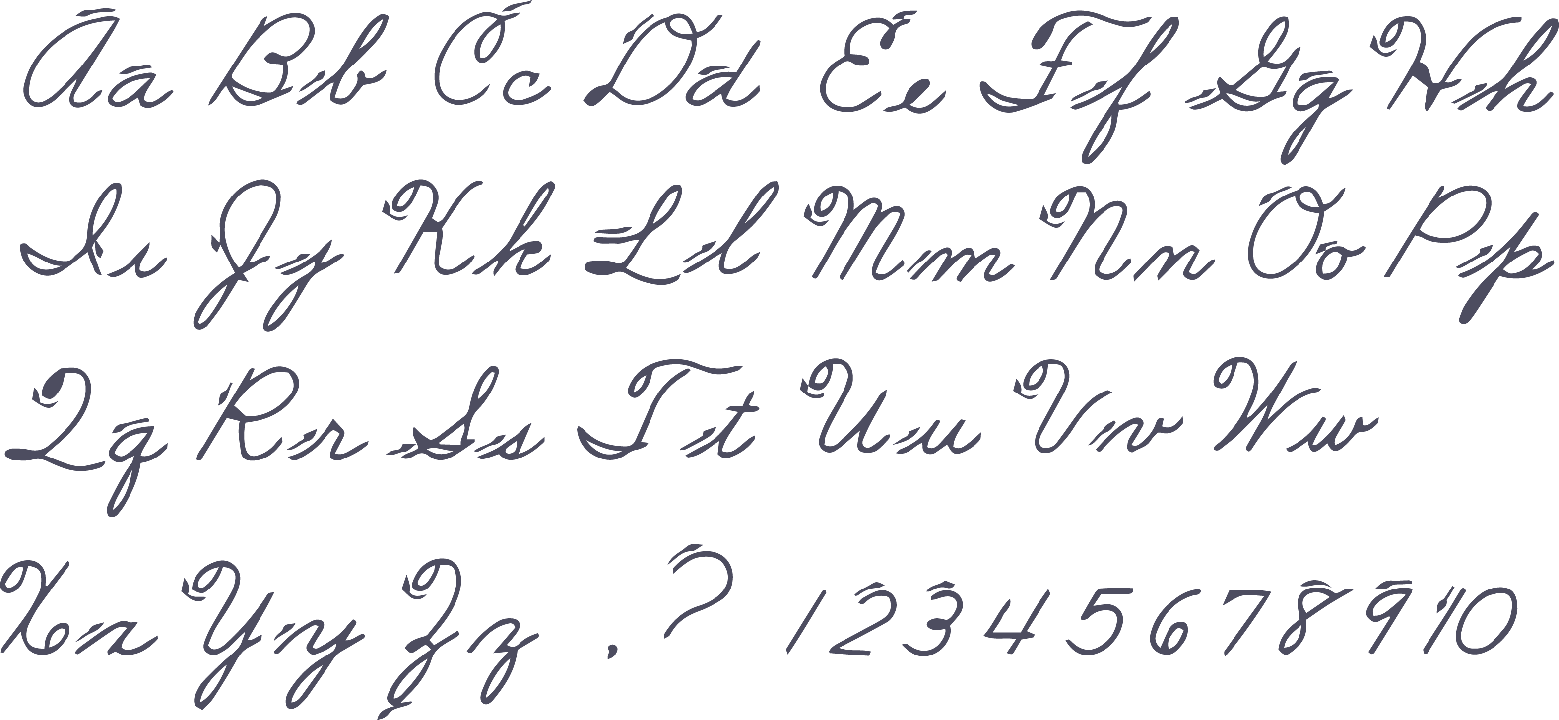 Free Printable Cursive Alphabet Letters Template To Print