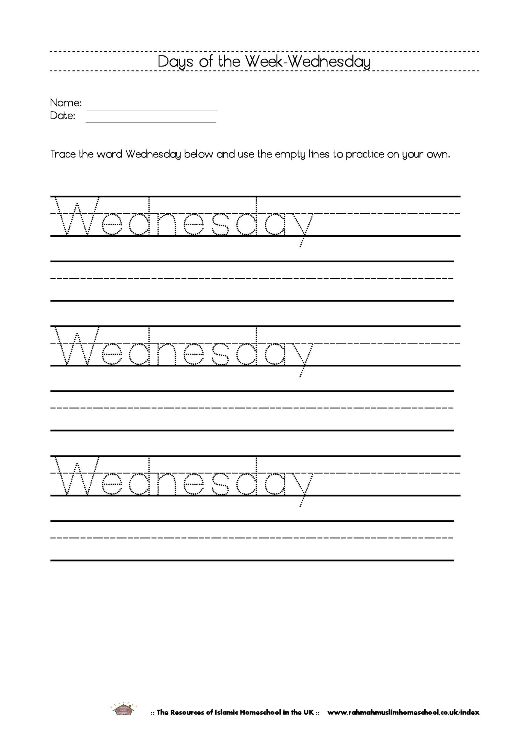 Free Printable Days Of The Week Workbook And Poster | The