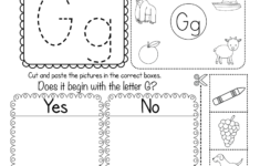 Free Printable Letter G Beginning Sounds Phonics Worksheet with Letter G Worksheets Free Printables