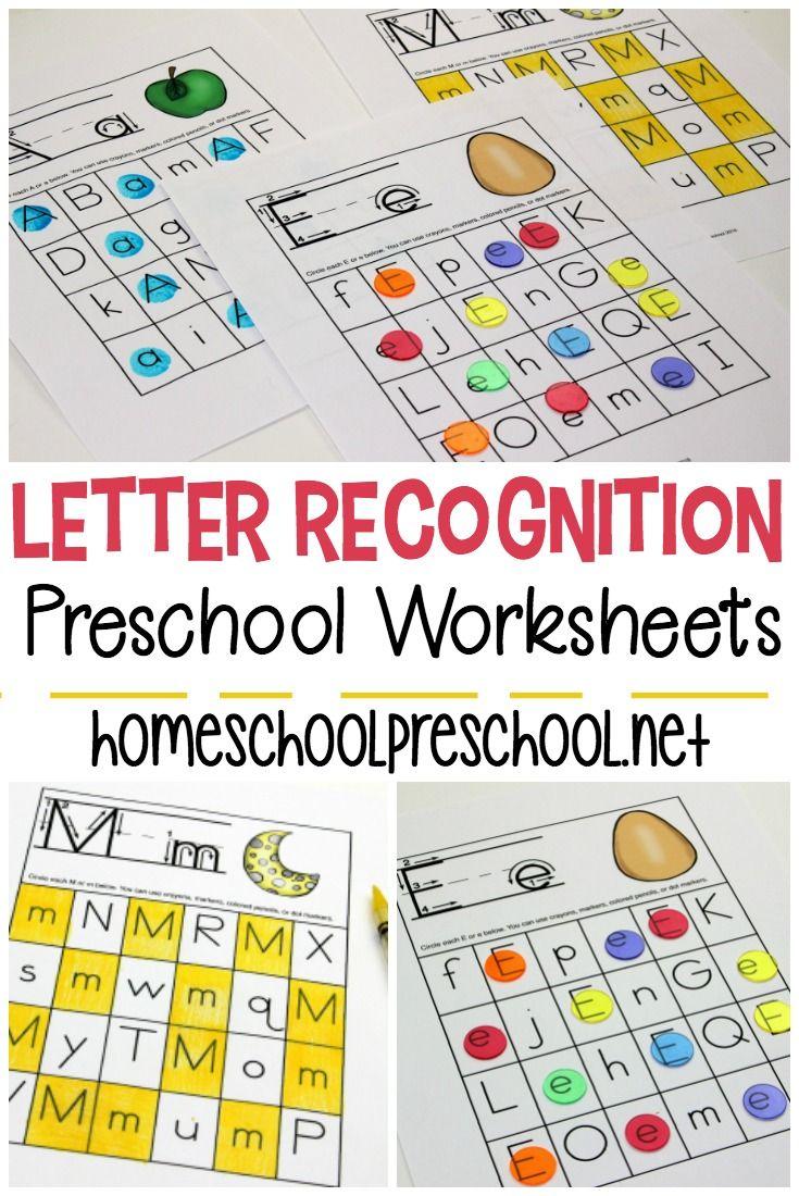 Free Printable Letter Recognition Worksheets For in Alphabet Recognition Worksheets Free