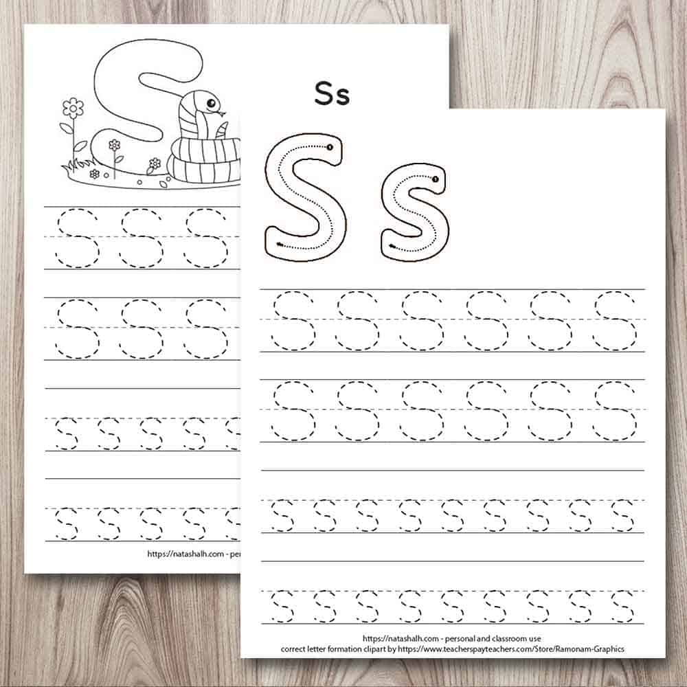 Free Printable Letter S Tracing Worksheets For Preschool