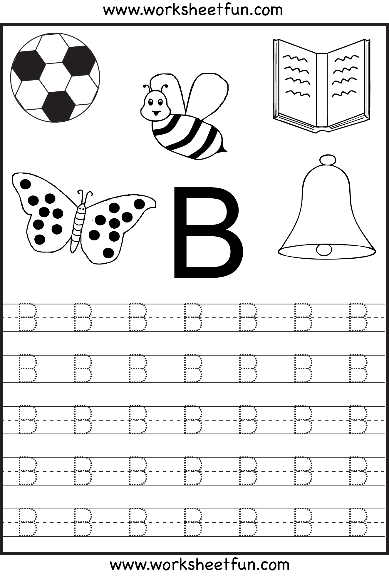 Free Printable Letter Tracing Worksheets For Kindergarten with Letter Tracing Kindergarten Worksheets