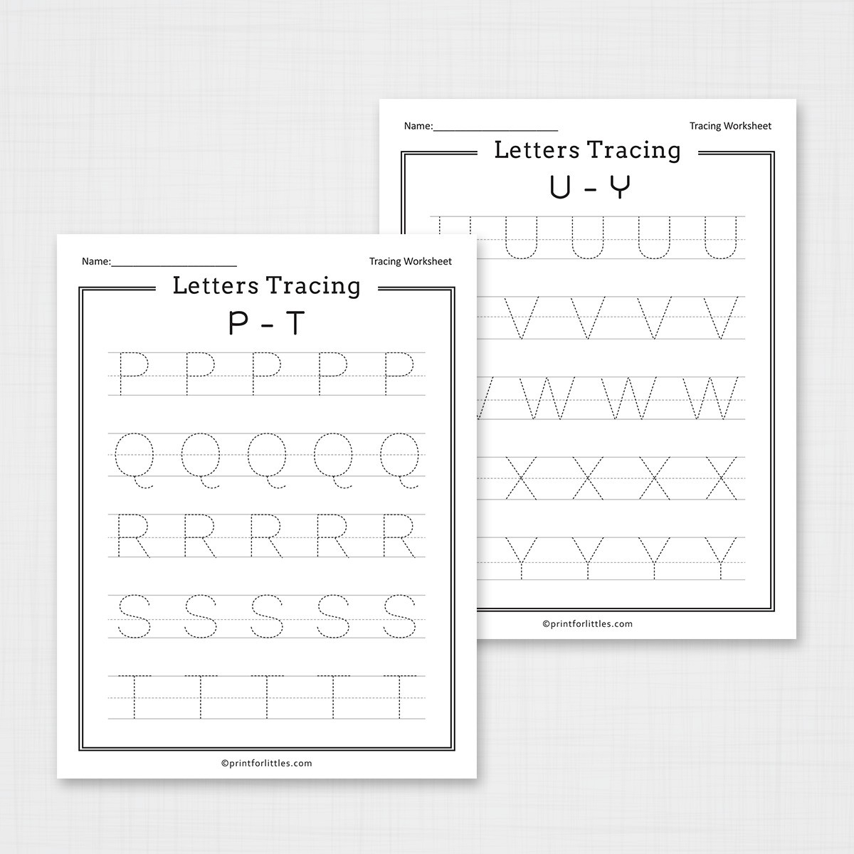 Free Printable Letters Tracing A-Z Worksheets throughout Letter Tracing Resources