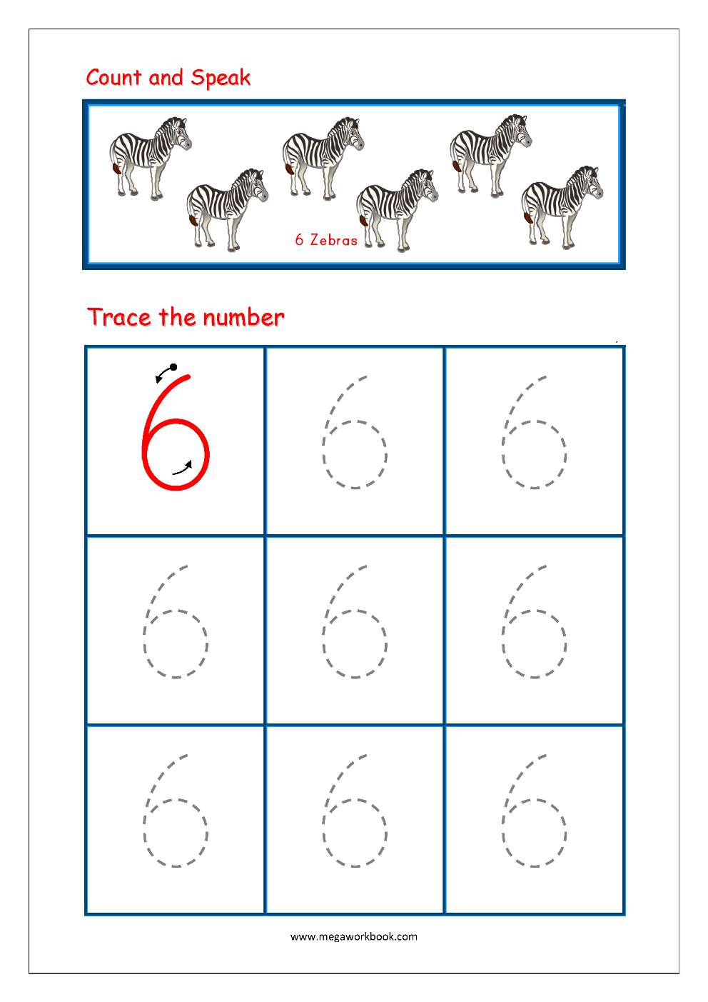 Free Printable Number Tracing And Writing (1-10) Worksheets