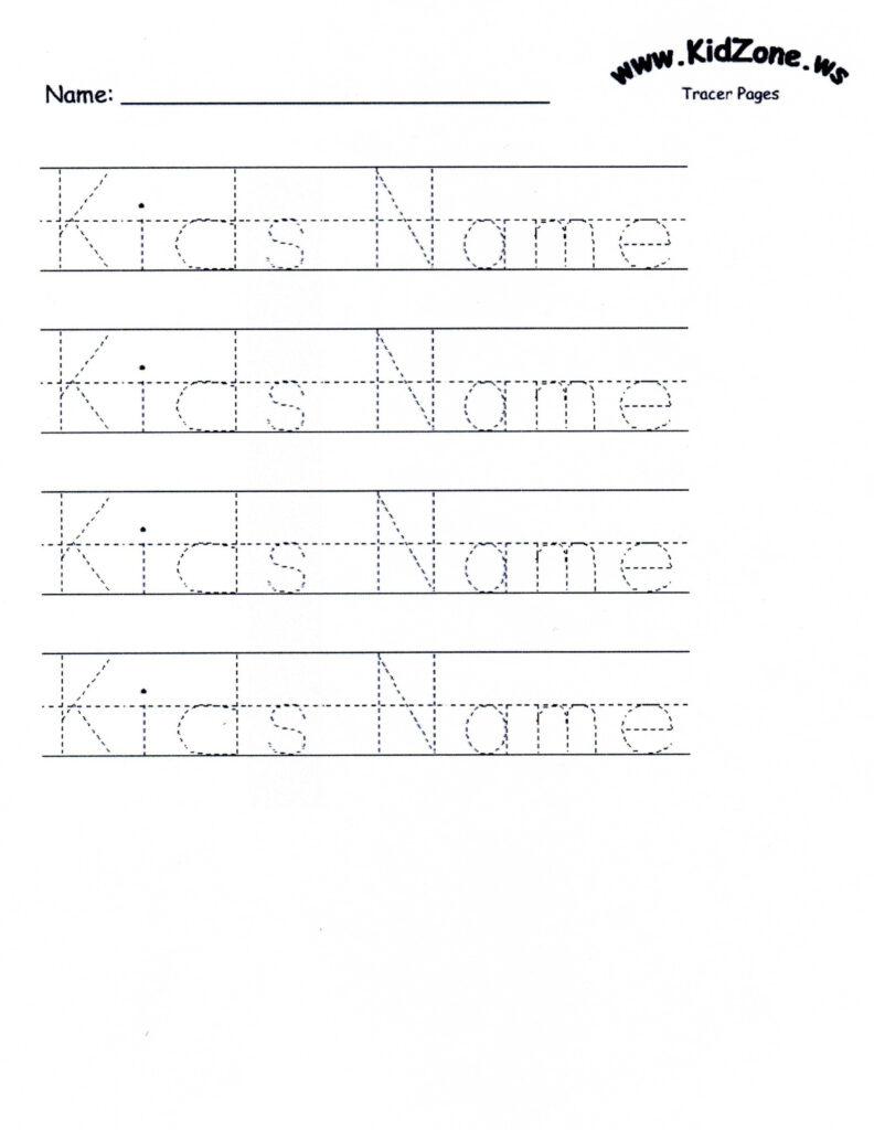 Free Printable Preschool Worksheets Tracing Name
