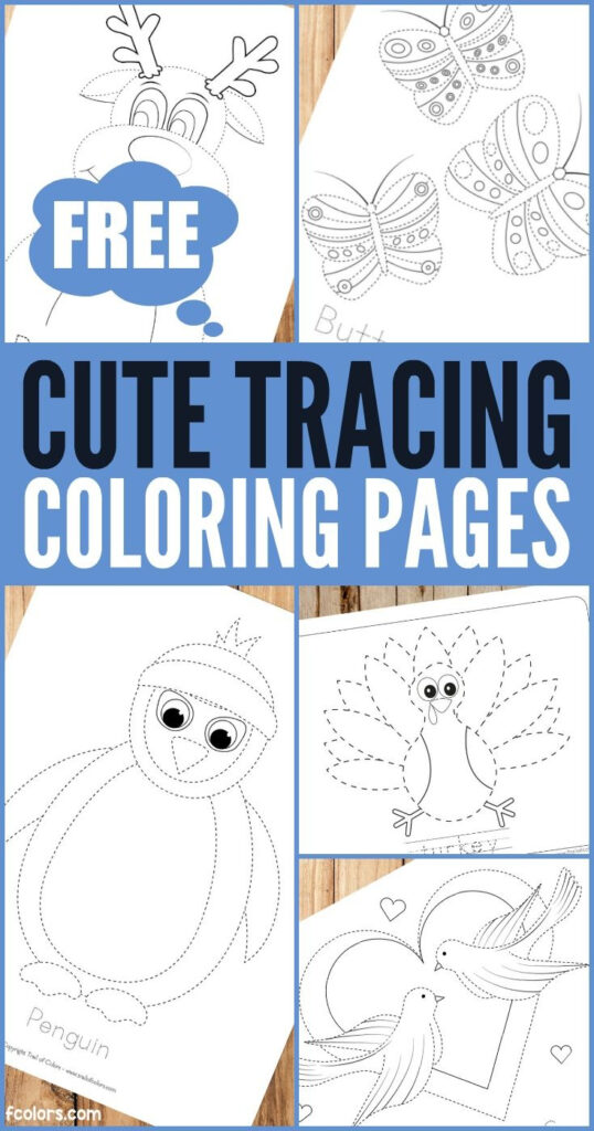Free Printable Tracing Coloring Pages For Kids   Trail Of