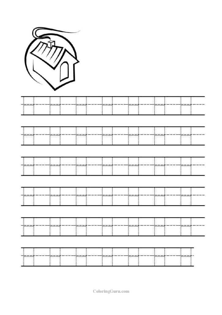 Free Printable Tracing Letter H Worksheets For Preschool For Letter H Tracing Worksheets For Preschool